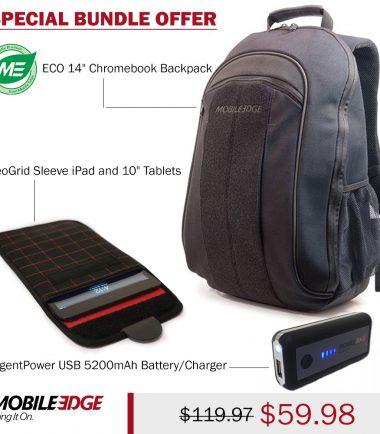 Bundle - ECO Canvas Backpack 14.1 (Eco-Friendly, Black)