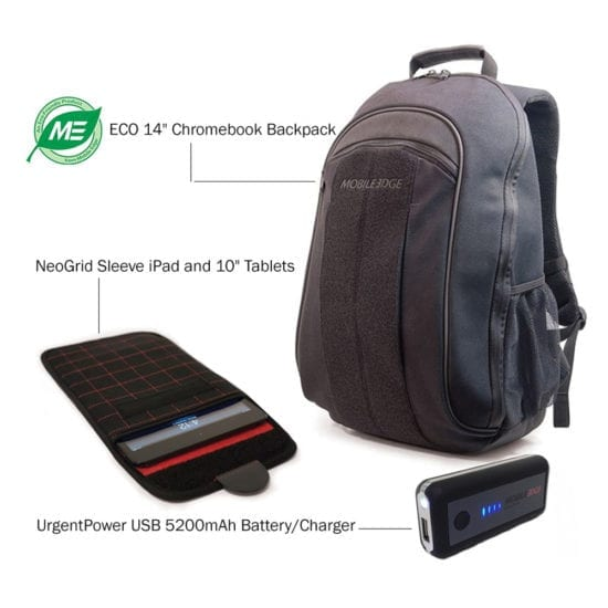 Eco Chroombook Backpack 14 plus UrgentPower and iPad / Tablet 10″ tablet - Bundle Offer