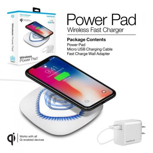Power Pad Qi Wireless Fast Charger - Power Pad Wireless Fast Charge White
