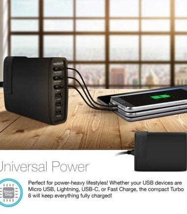Wall Charger Turbo 6 USB Universal Power