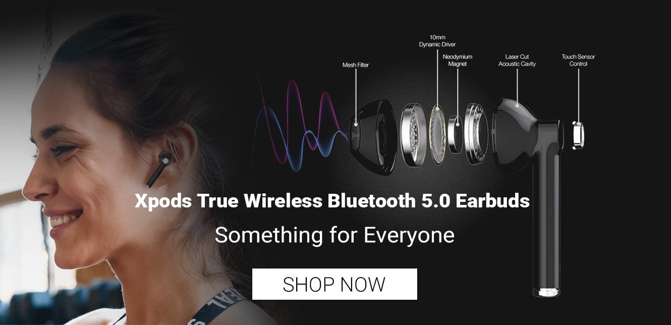 Xpods True Wireless Bluetooth 5.0 Earbuds - Shop Now