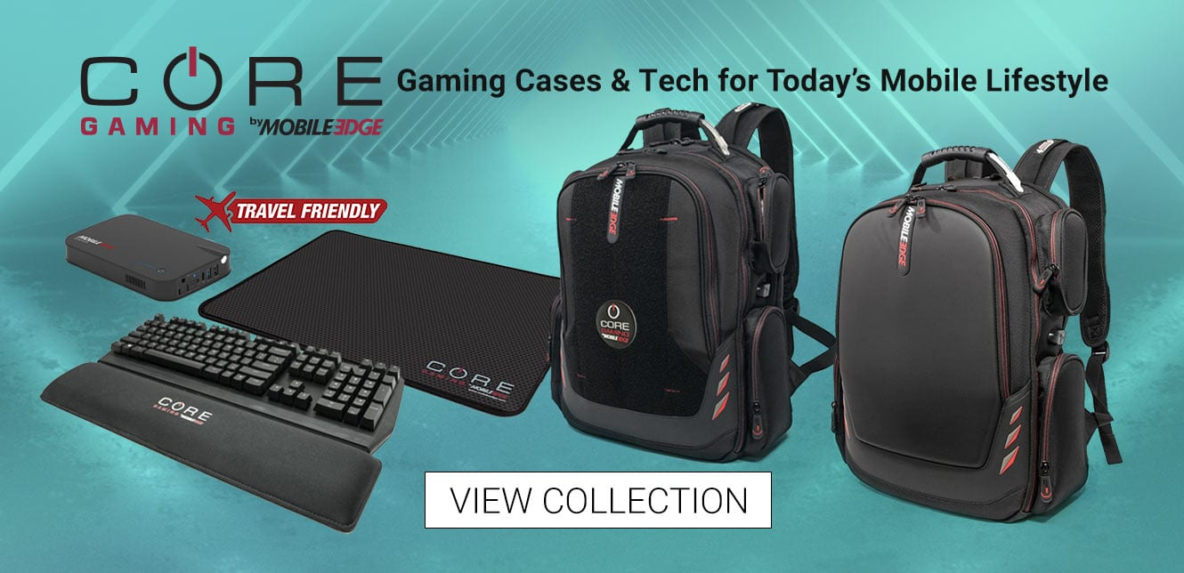 View Mobile Edge CORE Gaming Collection- Backpacks, Portable USB Portable/Charger and more